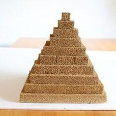Make a pyramid model using styrofoam