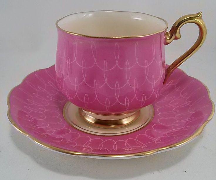 Vintage Royal Albert Bone China England Cup and Saucer - Pink & Cream #RoyalAlbert