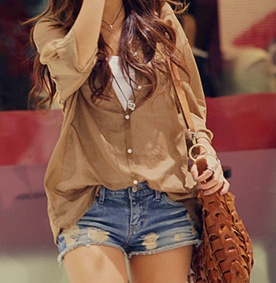 Fashion, Summer Outfit, Style, Shirts, Clothing, Cute Outfit, Jeans Shorts, Denim Shorts, Dreams Closets