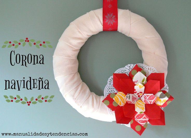 Flor de #Navidad de papel / #Christmas paper flower www.manualidadesytendencias.com #papel #papier #paper #flower #fleur #flor #manualidades #loisirs #créatifs #crafts #diy #origami #Noël