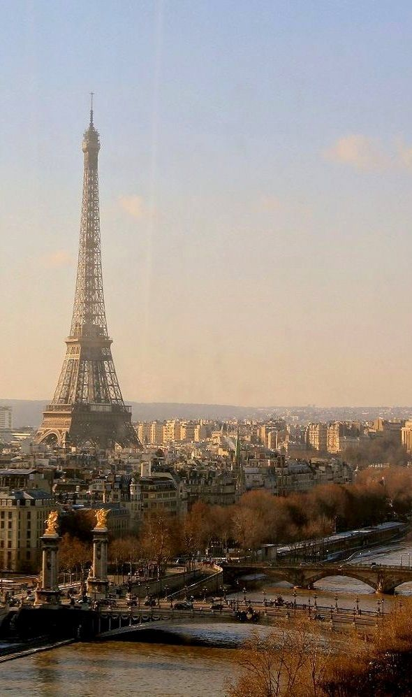 View of the Eiffel Tower, Paris. France. Europe. Vacation.