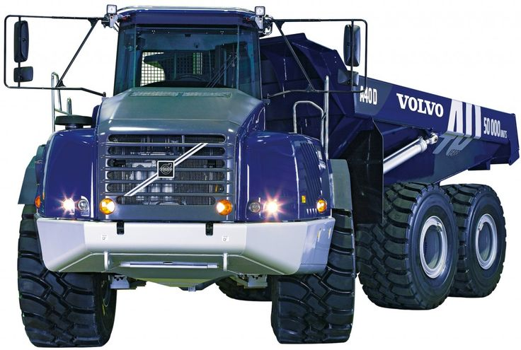 Volvo celebrated it's 50,000th articulated hauler with a Volvo blue paint scheme.