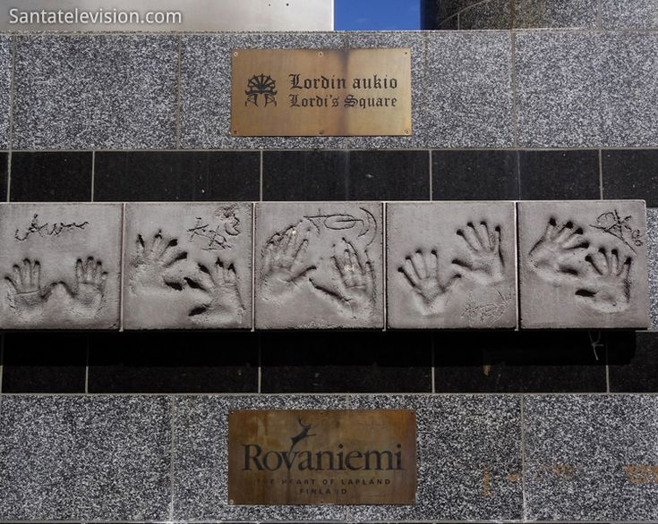Lordi Platz in Rovaniemi in Lappland in Finnland