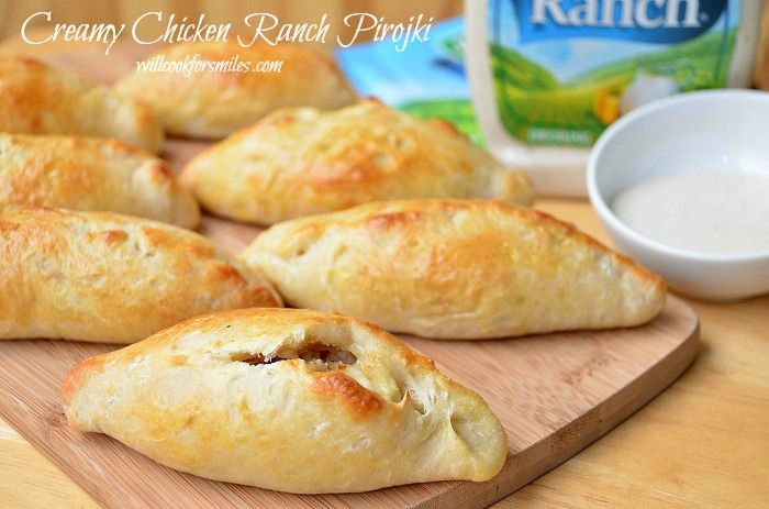 Creamy Chicken Ranch Pirojki. Super easy and tasty to boot!!!