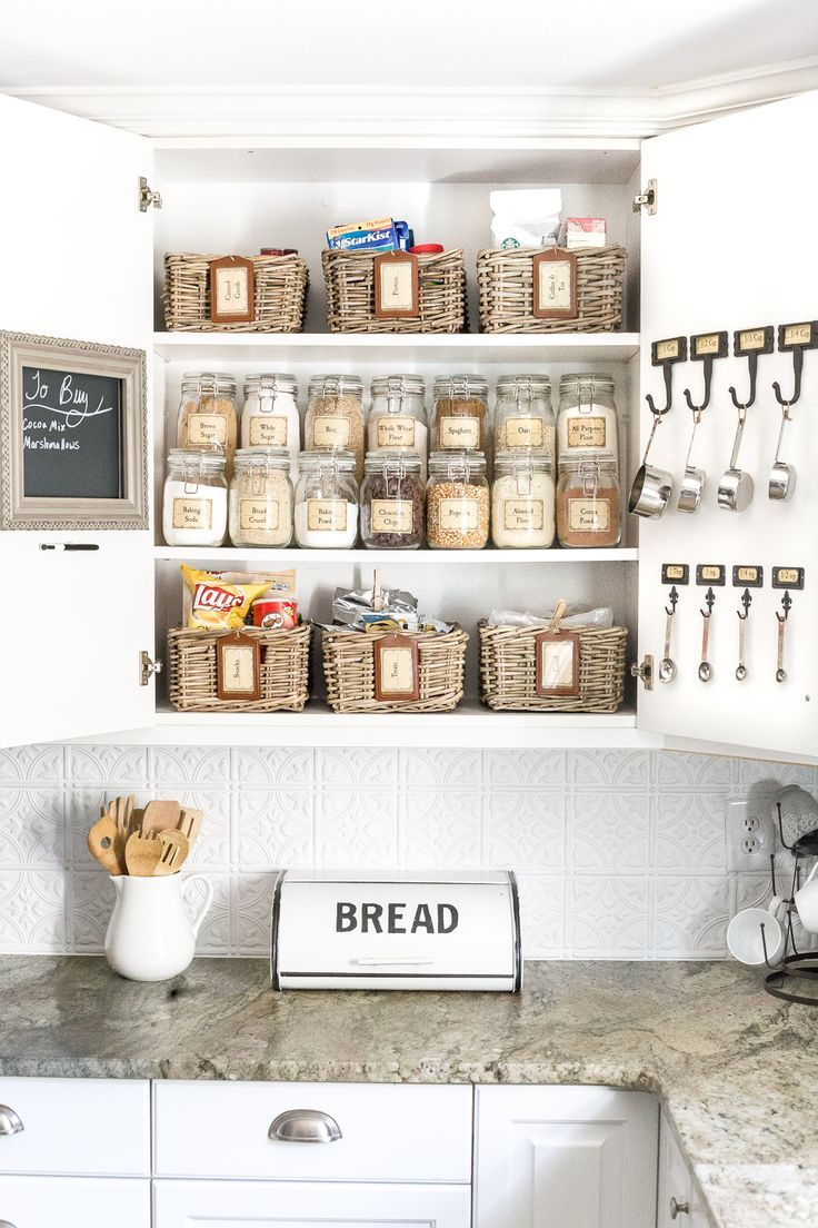 10 Kitchen Cabinet Tips: Pantry Cabinet Organization And Printable Labels