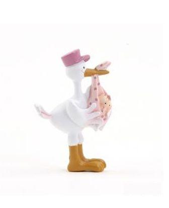 Imán Pita en pico de cigüeña con gorra rosa