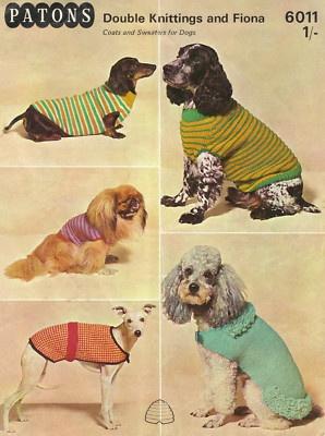 Vintage Dog Coat Patterns - like the poodle!