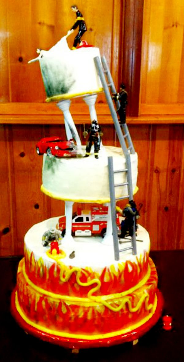 Fire Fighter Wedding Cake
