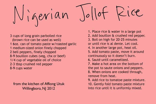 Nigerian Joloff Rice Recipe