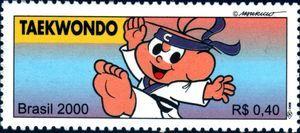 Sello: Taekwondo (Brasil) (Olympic Games) Mi:BR 3078,Yt:BR 2621,RHM:BR C-2320