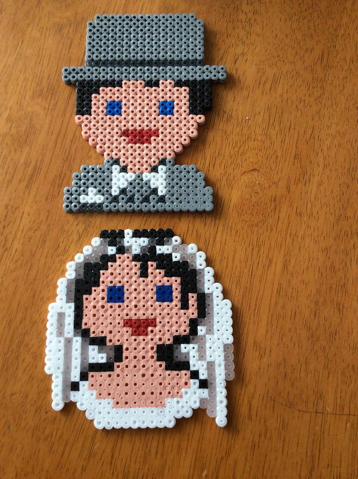 Bride and Groom Hama Beads