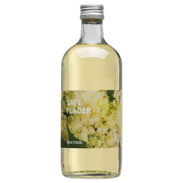SAFT FLÄDER Elderflower syrup - IKEA: Summer Drinks, Elderflower Syrup, Saft Fläder, Beverages, Fläder Vlierbloesemsiroop, De Sureau, Fläder Elderflower, Ikea, Tonic Water