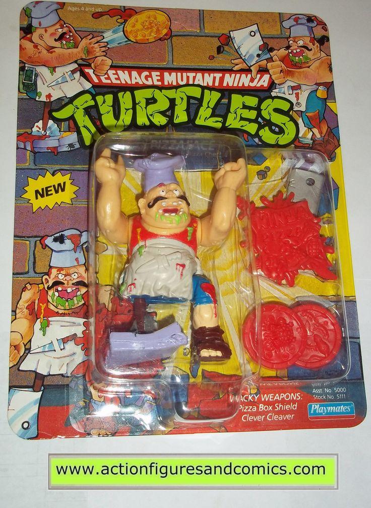 teenage mutant ninja turtles PIZZAFACE 1990 pizza face vintage playmates toys mib moc mip tmnt #706