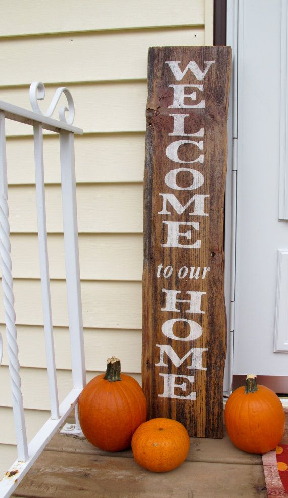 Welcome to our home reclaimed barn wood sign by DownHomeDecor23