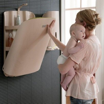 Wall mounted changing table (from a French Baby Website)