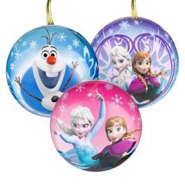 Tin bauble tree decoration with confectionery inside.