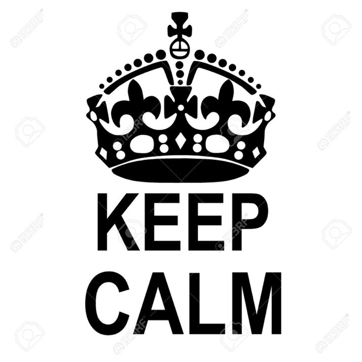 Keep Calm Crown Royalty Free Cliparts, Vectors, And Stock ...