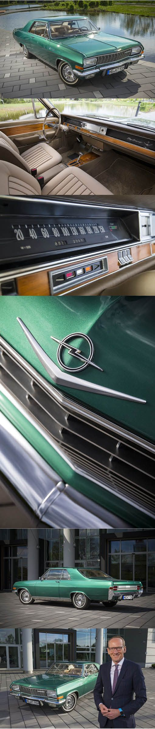 1965 Opel Diplomat 347 V8 Coupé / Germany / owner: Opel CEO Neumann / green