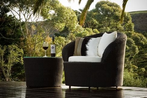 Our fabulous swivel armchair, the MIRO Collection. Available in two colours, chocolate textured Rattan and our Natural-look charcoal RattanONLY LIMITED STOCK AVAILABLE IN CHOCOLATE: SWIVEL CHAIR, OTTOMAN AND COFFEE TABLE AVAILABLE:New Stock Arriving Soon, orders being taken now. S