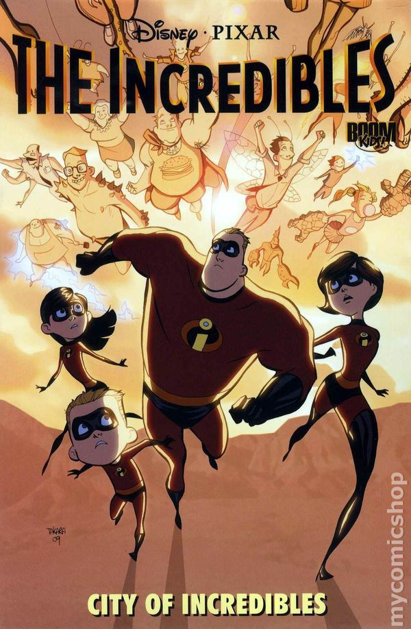 Incredibles City of Incredibles TPB (2010 Boom Studios) 1-1ST Comic book covers Walt Disney Pixar