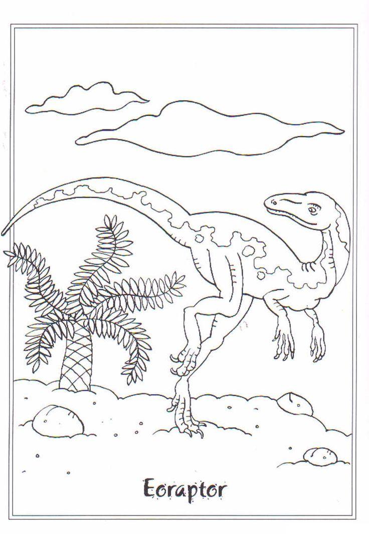 coloring page Dinosaurs 2 - Eoraptor