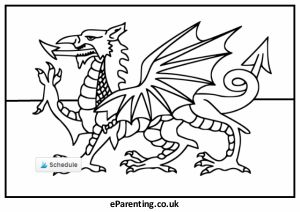 st david's day colouring pictures free printables  flag