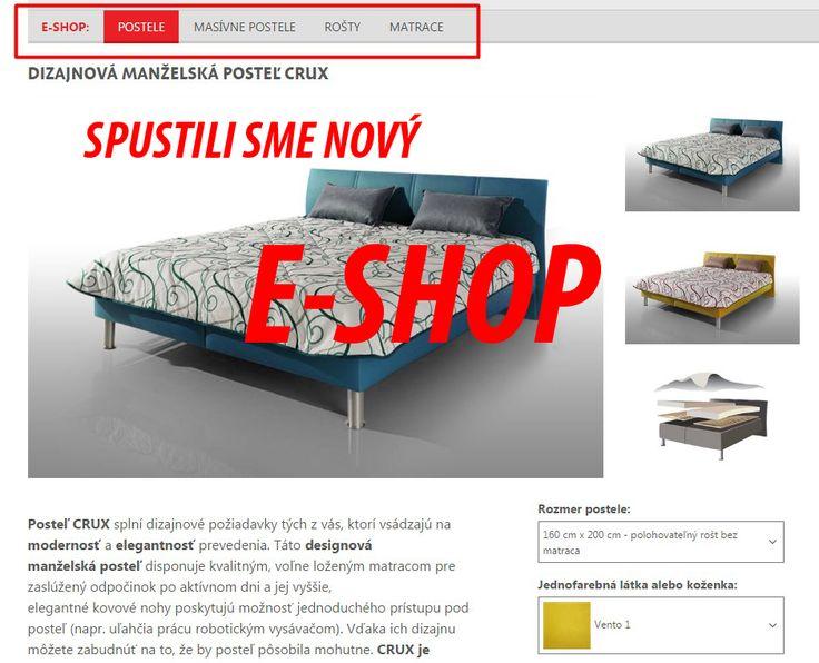 Spustili sme nový eshop. Postele, matrace aj rošty objednáte v pohodlí domova na www.sedackybeta.sk !