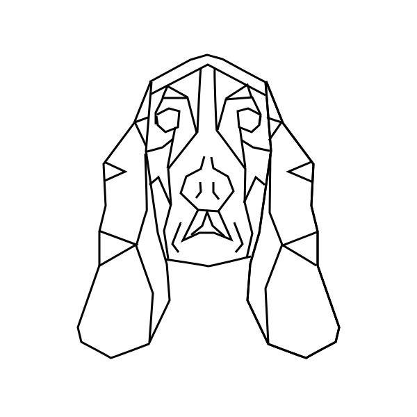 geometric geometrique dog chien