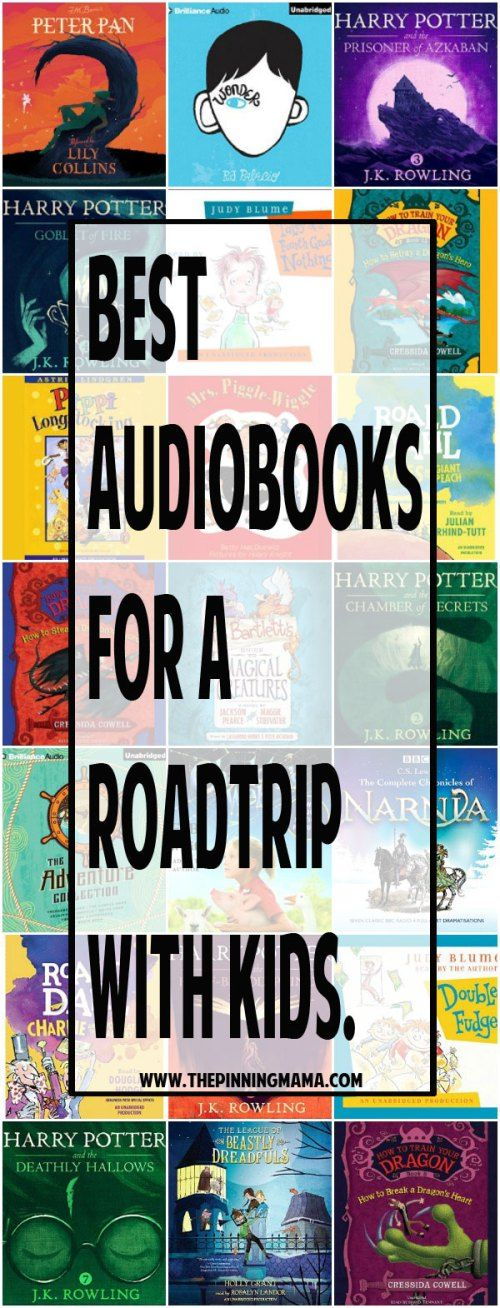 Best Audio Books for a Road Trip with Kids - 20+ ideas your kids will love listening to! Options for long and short trips plus series the whole family will get into!!