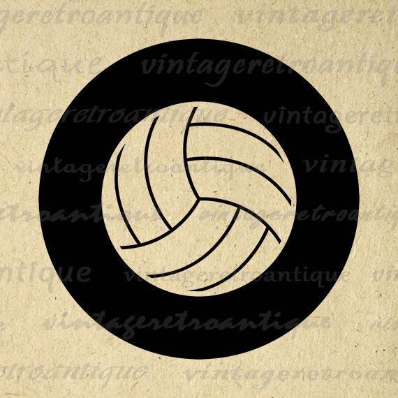 Printable Graphic Volleyball Download Sports Digital Volleyball Image Antique Clip Art Jpg Png Eps 18x18 HQ 300dpi No.4553 @ vintageretroantique.etsy.com #DigitalArt #Printable #Art #VintageRetroAntique #Digital #Clipart #Download
