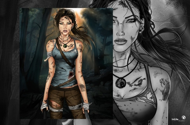 #TombRaider #Illustration - inLite Illustrations & Design #artwork #laracroft