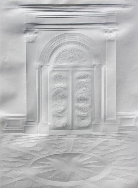 Simon Schubert es el más conocido para crear intrincadas obras por meticulosamente arrugar una hoja de papel en imágenes planas de interiores reales o imaginarios. Creado por modeladión