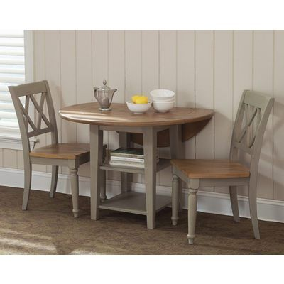 Liberty Furniture Al Fresco 3 Piece 42 Inch Round Dining Room Set W X Back Side Chairs In Light Wood Antique On Online Breakfast Table