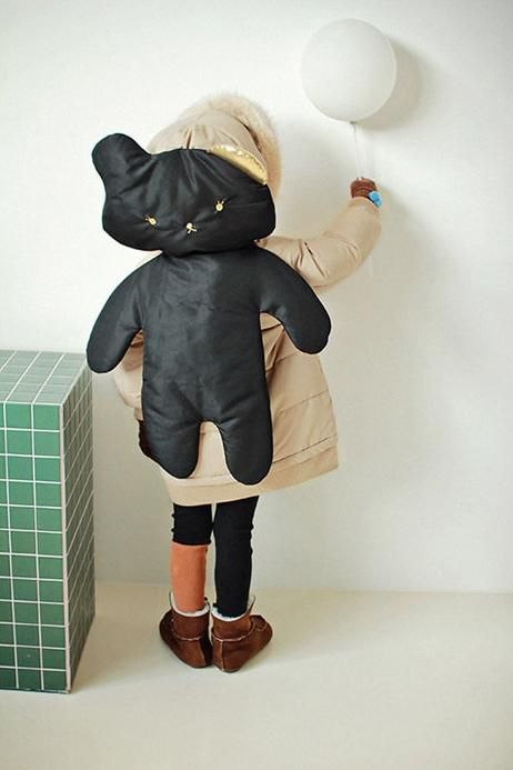 AeHem Shadow Padded Coat at Color Me WHIMSY - Cool Kid's Clothes Made in Korea