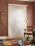 Vertical window blinds are the best for sliding doors and tall windows.  Beauty, privacy, and durability.