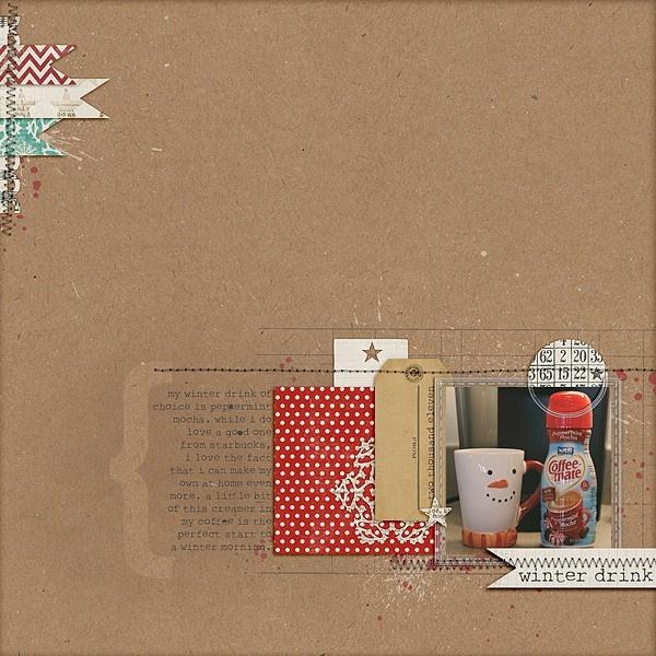 gorgeousScrapbook Ideas, Layout Ideas, Scrapbook Inspiration, Winter Drinks, Colors, Peas Scrapbook, Digital Scrapbook, Mrsski07 2Peasinabucket, Scrapbook Layout