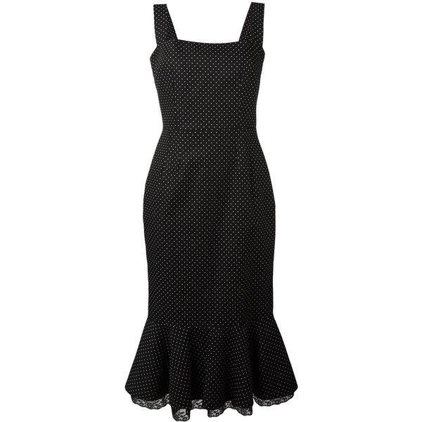 Dolce & Gabbana polka dot peplum dress (27,030 MXN) ❤ liked on Polyvore featuring dresses, black, peplum dress, embelished dress, polka dot summer dresses, evening dresses and holiday dresses