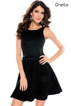 GRETA Dámské letní šaty černé pro formálnější chvíle