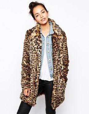 New Look Leopard Print Faux Fur Coat - How gorgeous is this leopard print faux fur coat? I love the length. http://asos.do/hALI8S