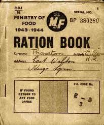 because of food shortages in World War 2 the government gave out ration books