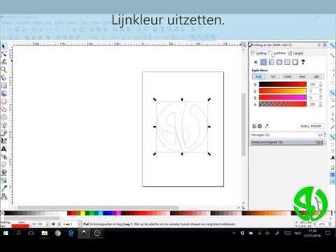 Hoe een bepaald vlak rasteren in Inkscape?