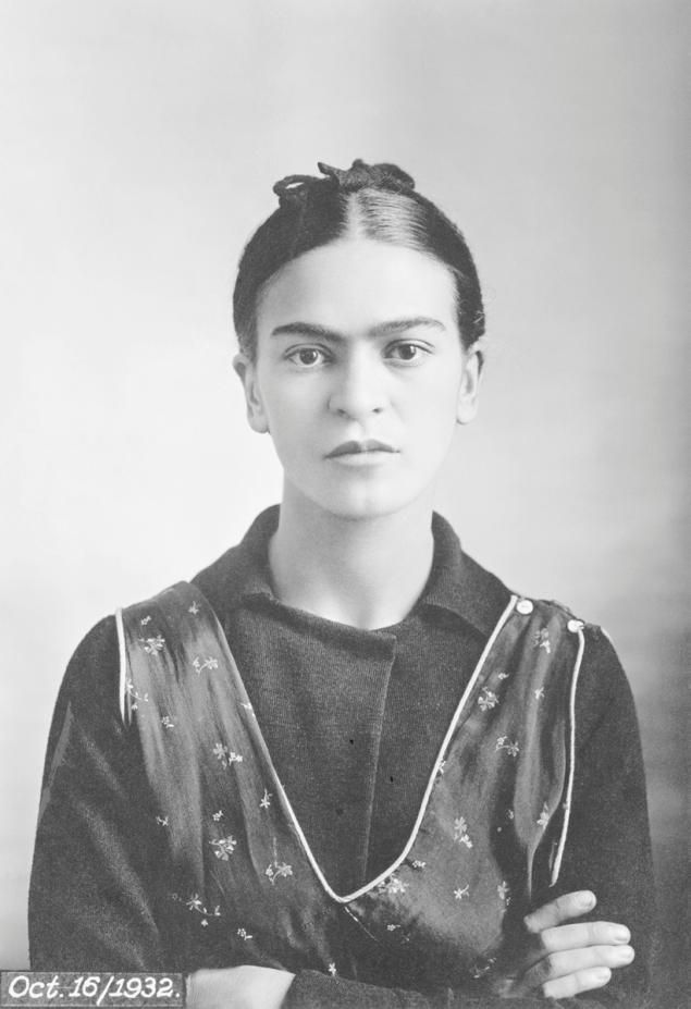 """Frida Kahlo's father Guillermo Kahlo captured this portrait on Oct. 16, 1932, just months after the Mexican painter suffered a miscarriage at Henry Ford Hospital in Detroit on July 4, 1932 and painted a series of disturbing paintings, including """"The Flying Bed."""""""