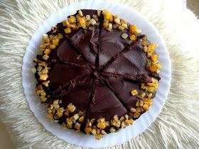 Przepis na fit ciasto czekoladowo-pomarańczowo-migdałowe