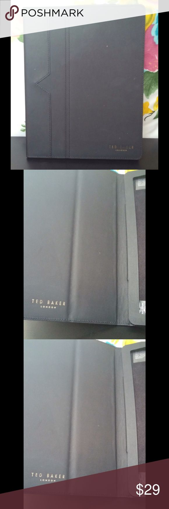 Ted Baker IPad 2/3 THELINE Tablet Folio Black Ted Baker IPad 2/3 Generation Cover Folio Black.  Sleek , Black, Smooth,  with the Ted Baker logo on the inside as well.  This is a beautiful cover. Ted Baker Bags Laptop Bags
