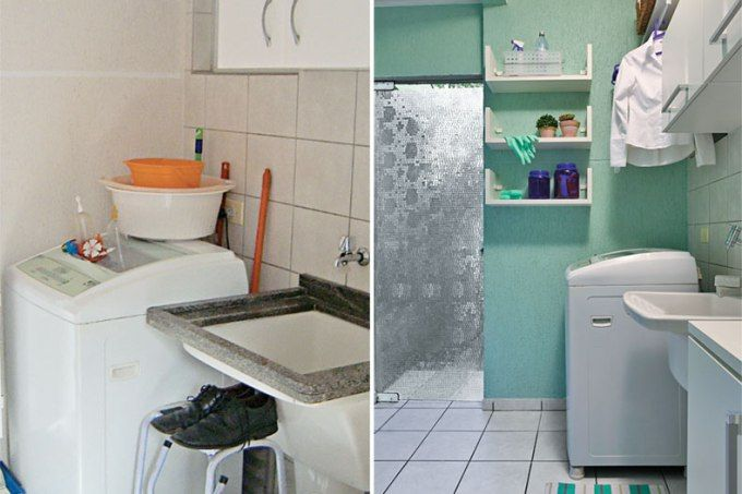 A área de serviço deste sobrado em Curitiba foi transformada em 15 dias com medidas simples: uma pincelada de cor, acessórios práticos e boa marcenaria. Você também gostaria de ter a sua casa transformada? Então, inscreva-se e participe do concurso MINHA CASA RENOVADA.