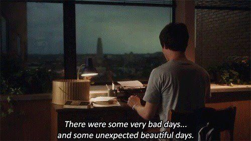 the perks of being a wallflower: there were some very bad days ... and some unexpected beautiful days.
