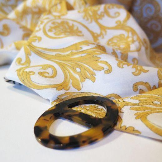 Elegantná ručne brúsená spona na šatku zo živice - farba05