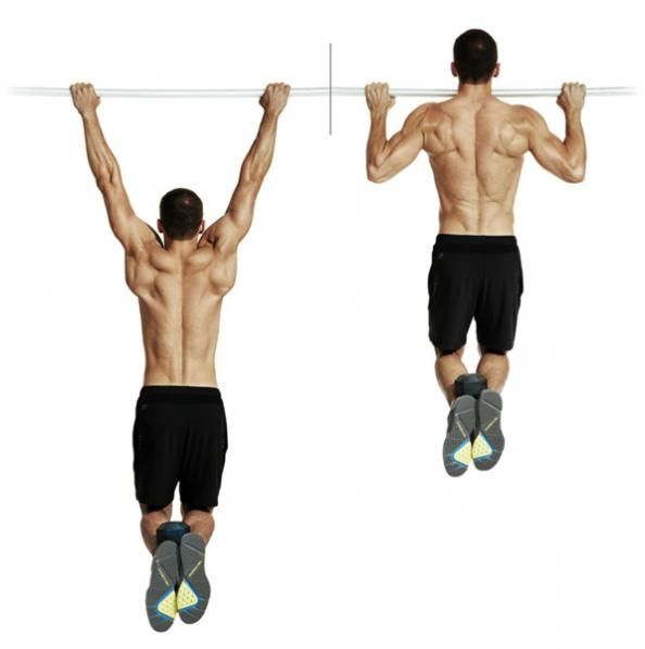 """Nothing quite says """"I'm big"""" like a wide set of shoulders, and a wide back is a big part of that. The best move for developing those big, fan-shaped muscles (latissimus dorsi, aka, the lats) that make your shoulders look wide is the traditional pullup. It's a big, multijoint move, which leads to testosterone release, meaning strength and overall muscle development will be enhanced."""