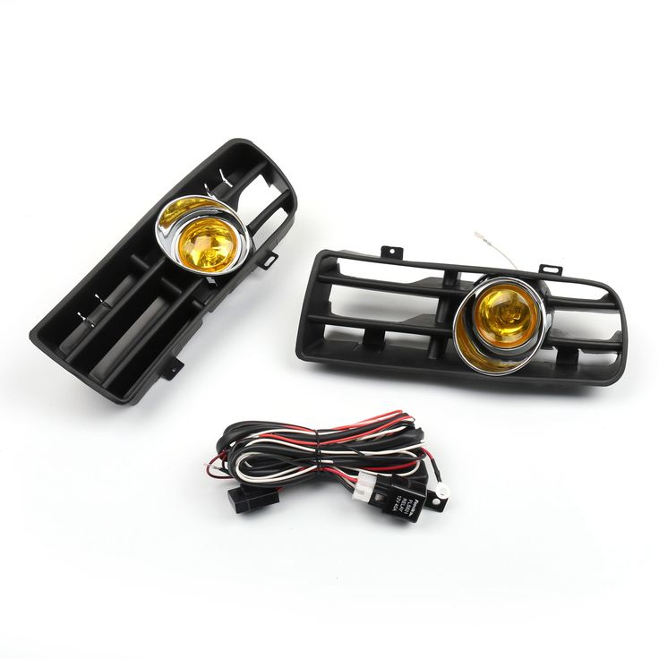 Fabulous Pair Front Grille LED Fog Light Lamp Lower Grill VW Golf GTI TDI MK Yellow