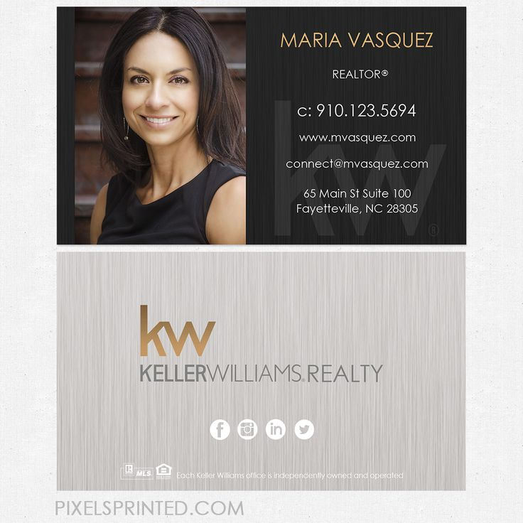 Keller williams business cards real estate stuff real